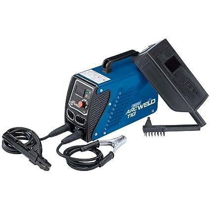 Draper inv106 100 un Arc/soldador Inverter TIG Kit, 230 V, Azul
