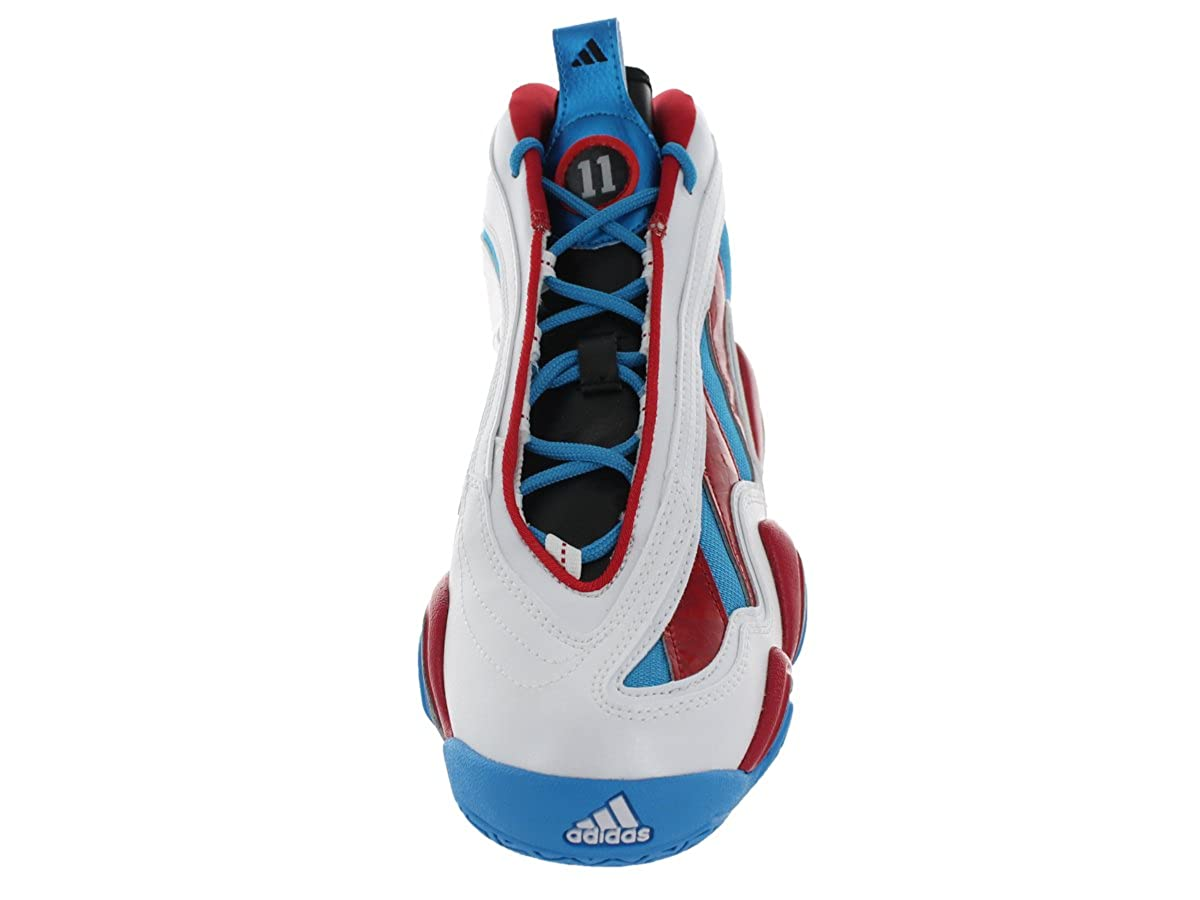 low priced 99bcf 4b80b Amazon.com  adidas Crazy 97 Mens (Jrue Holiday) in Run WhiteScarlet by, 9   Road Running