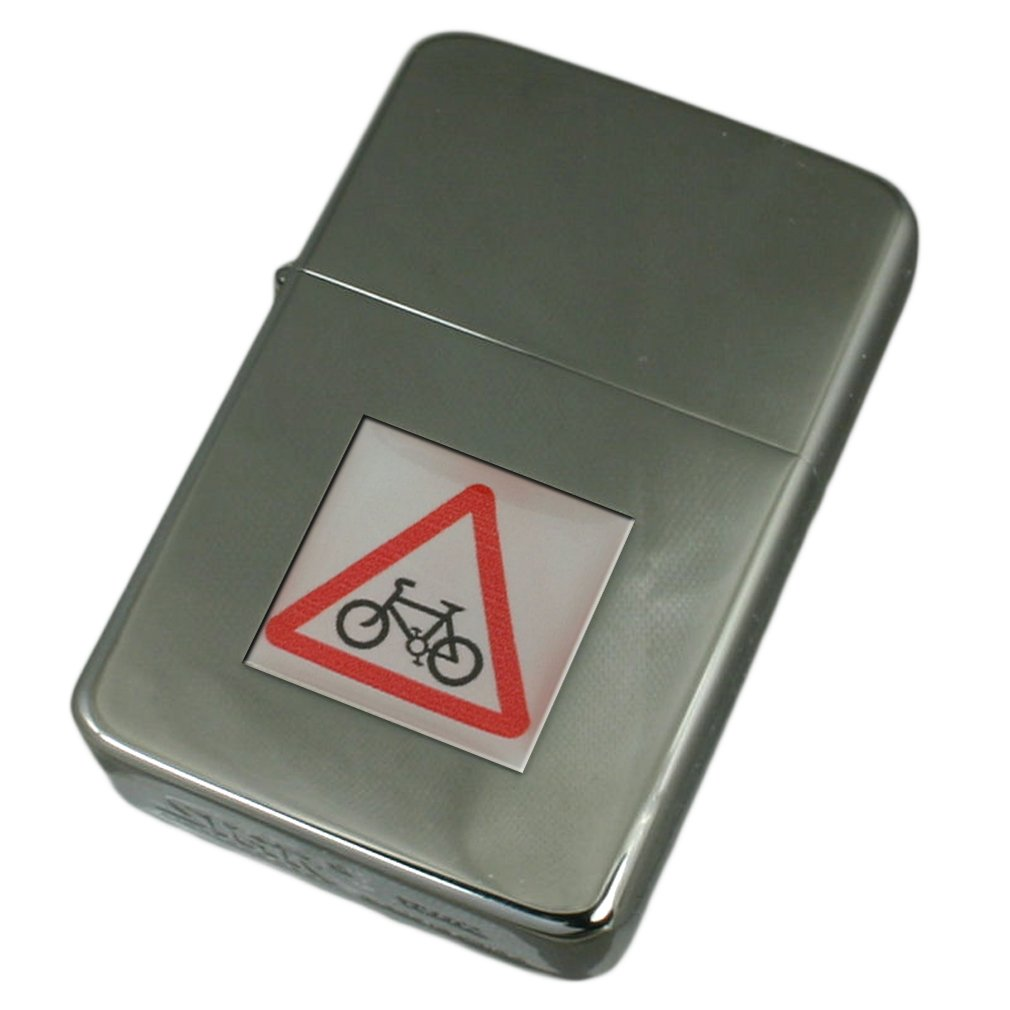 Engraved Lighter Bicycle Road Sign