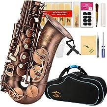 Glory High Grade Antique finish series PR1, E Flat Alto Saxophone with 11reeds,8 Pads cushions,case,carekit