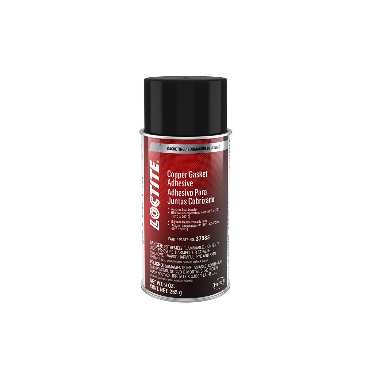 Loctite 502911 Copper Gasket High Temperature Adhesive Sealant Aerosol Can, 9-oz.