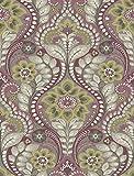 A-Street Prints 2763-12103 Night Bloom Damask Wallpaper, Grey