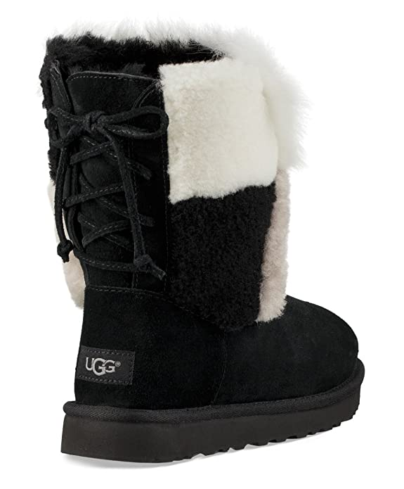 288800a8348 Amazon.com | UGG Classic Short Patchwork Fluff Women's Boot | Mid-Calf