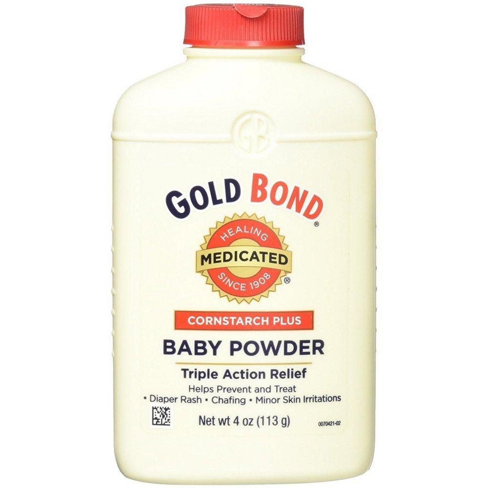 Gold Bond Cornstarch Plus Baby Powder 4 oz (Pack of 8) by Gold Bond