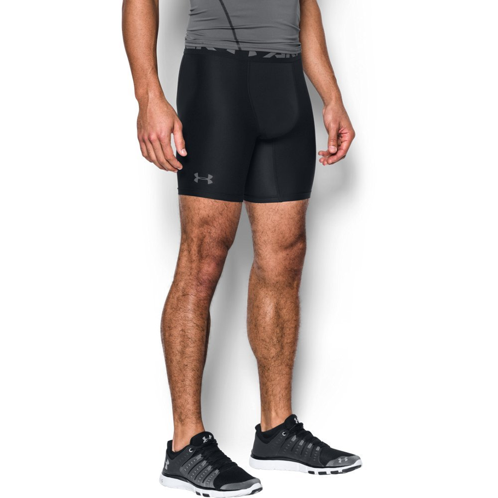 Under Armour Men's HeatGear Armour 2.0 Mid Shorts, Black (001)/Graphite, 3X-Large