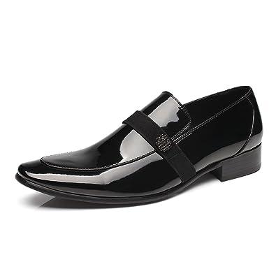 ca647e4ce0 Faranzi Oxford Shoes for Men Patent Leather Tuxedo Moc Toe Slip-on Loafer  Mens Dress