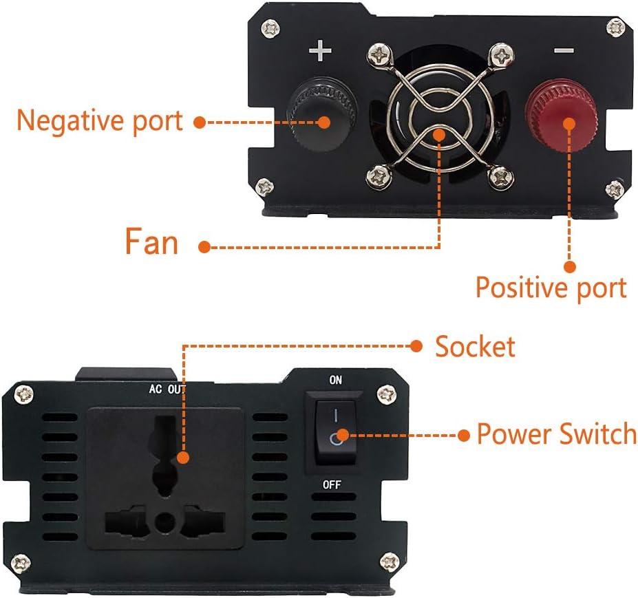 LVYUAN Power Inverter 1000W//2000W 4 AC Outlets and 4 USB Charging Ports DC to AC Inverter 12V to 110V Car Converter DC 12V Inverter with Digital LCD Display