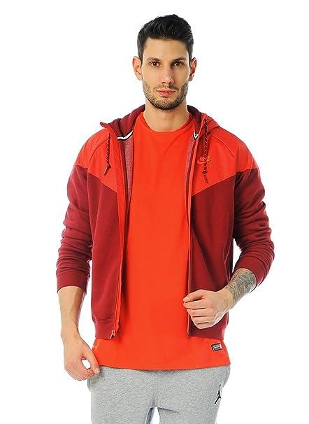 Nike Men s Dri-Fit Hybrid Fleece Windrunner Full Zip Hoodie  Red Burgundy Crimson fbc58d163