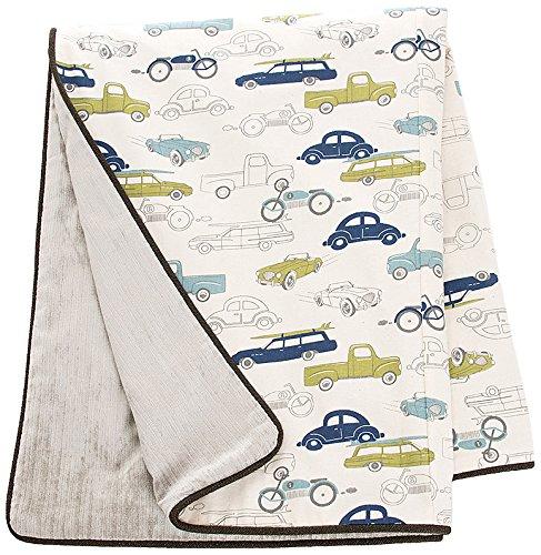 Sweet Potato Uptown Traffic Reversible Full Queen Duvet Bedding Set, Cream/Avocado/Grey/Royal Blue ()