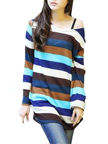 Sudadera para Mujer Patchwork Sudadera De Sudadera Suelta Larga Camisa Moda para Mujer Sudaderas Universitarias Modernas Pulli Teens Elegant Sweats: ...