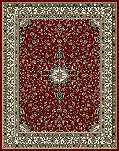 (Traditional Area Rugs 2x3 Door Mat Indoor Red Small Rugs for Bedroom Prime)