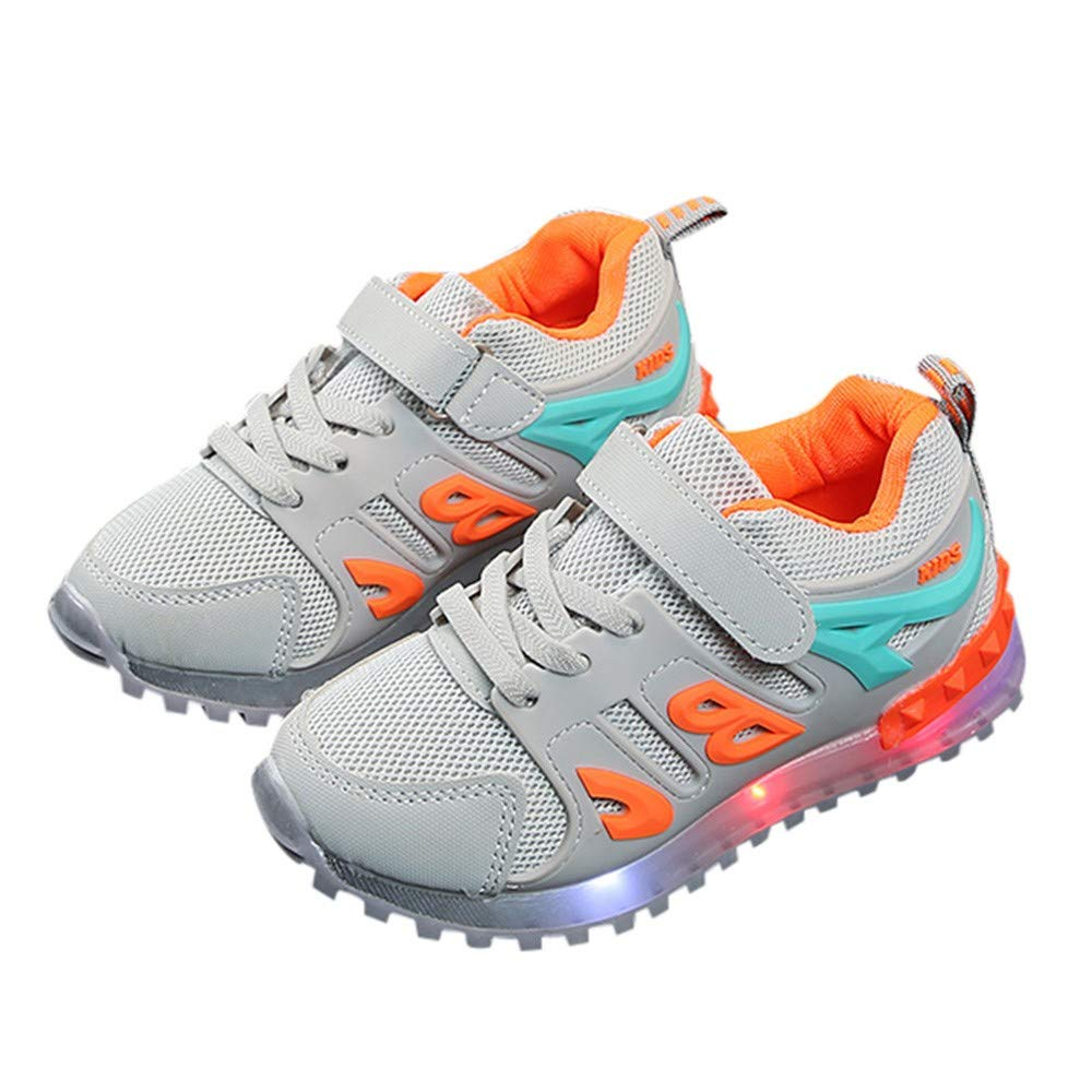 Boys Girls Led Light Luminous Shoe Mesh Outdoor Casaul Shoes(Toddler/Little Kid/Big Kid) by Lurryly (Image #4)
