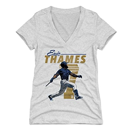 new product bc7bf 8e5ee Amazon.com : 500 LEVEL Eric Thames Women's Shirt - Milwaukee ...