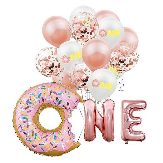 NUOBESTY 1er cumpleaños Decoraciones para niñas Set de ...
