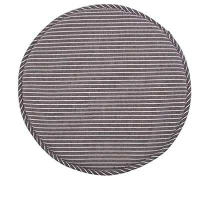 Amazon.com: Stripe Antiskid Cotton Linen Round Chair Seat ...