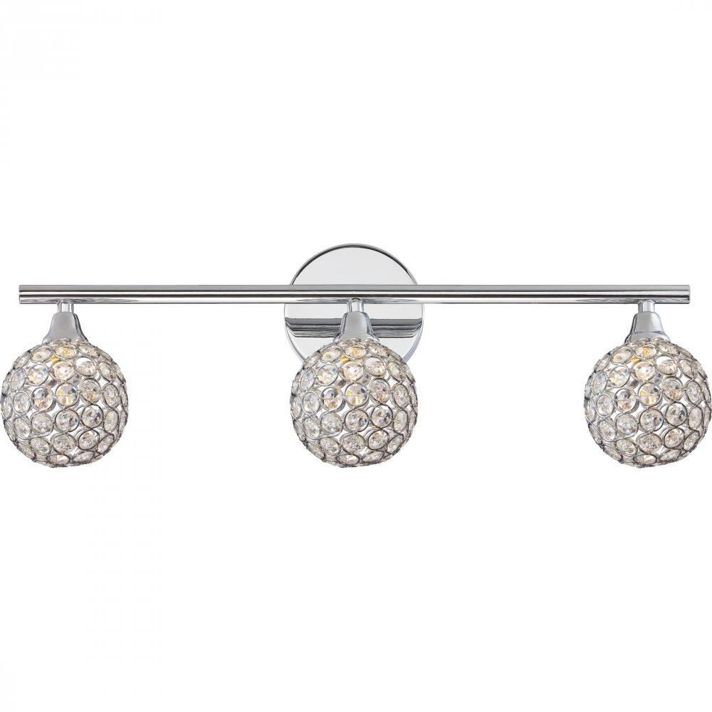 Quoizel PCSR8603C Three Bath Fixture Vanity Lighting, Polished Chrome