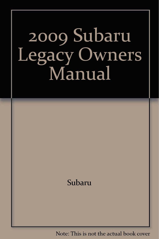 Subaru legacy owners manual 2009.
