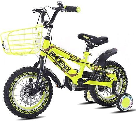 HYCy Bicicleta para niños Bicicleta para niña, niño 3-4-5-6-7 años ...