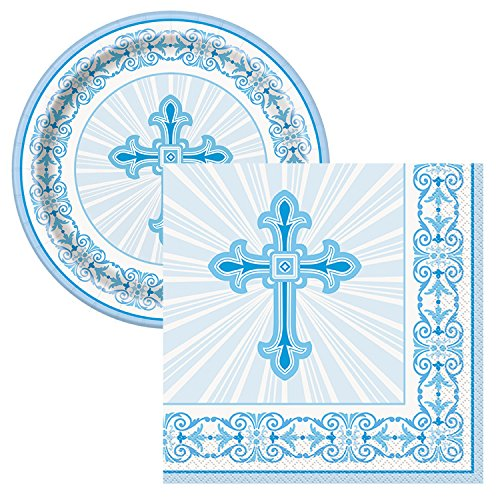 Radiant Cross Religious Celebration Party Tableware Plate and