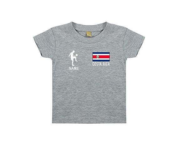Shirtstown Kids Camiseta Camiseta de Fútbol Costa Rica con Su Nombre Deseado Estampado: Amazon.es: Ropa y accesorios