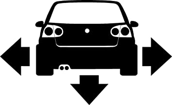 VW GOLF MK Down N Out Bumper Car Van Window Stickers SBDNO - Car window stickers amazon uk