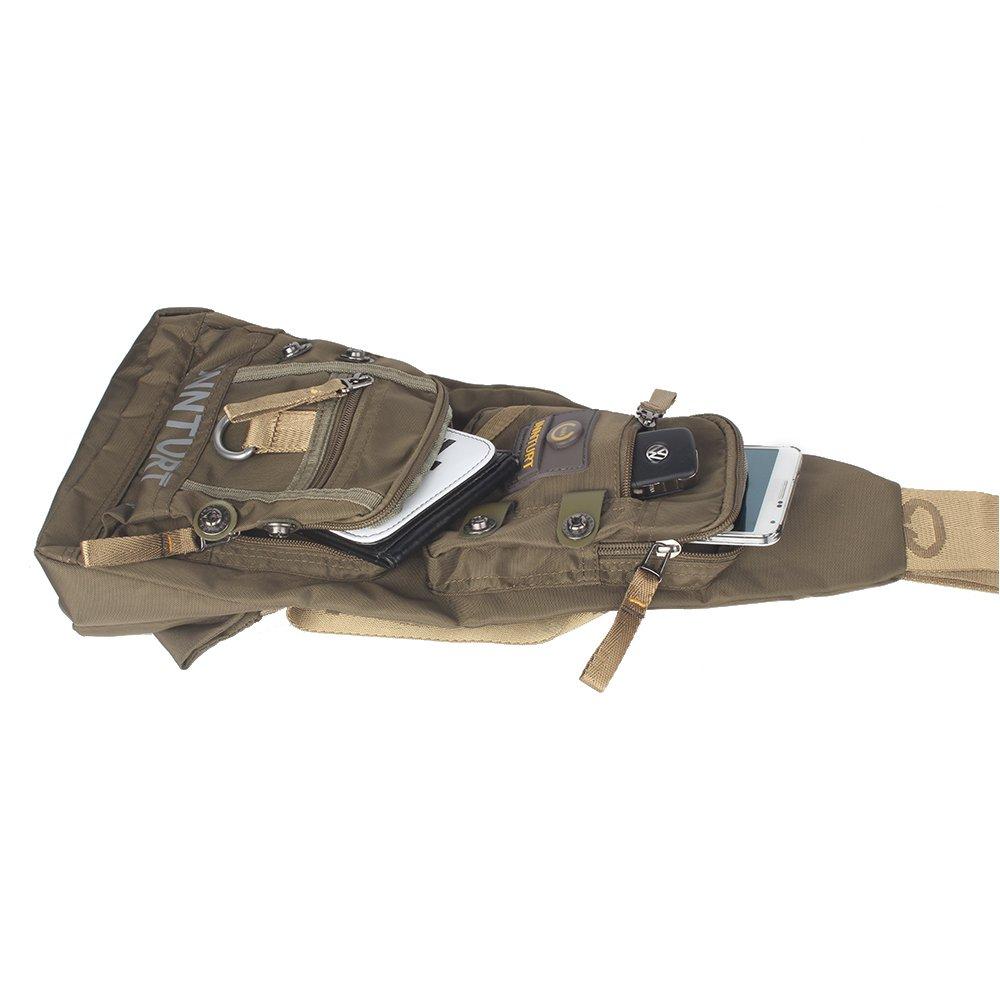 Innturt Nylon Sling Bag Daypack Travel Gym Backpack (S1-Army Green) by Innturt (Image #4)