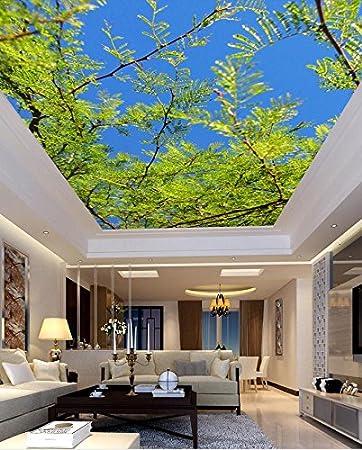 350 Cmx 245 Cm 3d Wandbild Tapeten Baum Himmel Decke Individuelle