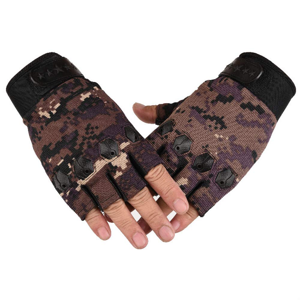 Half Fnger Non-slip Gloves, Men Gloves Breathable Cycling Bicycle Sports Breathable Sweat Mesh Gloves