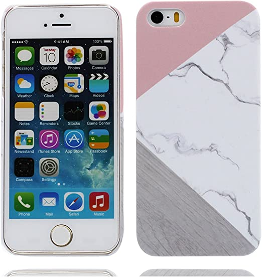 iPhone 5S étui,iPhone 5 / SE coque,Housse en étui rigide Pretty marbre pattern Design Housse de protection Ultra Slim Hard Shell cover pour iPhone 5S ...