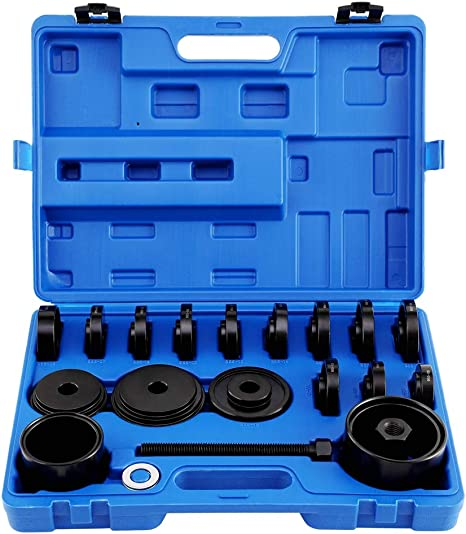 23pc Front Wheel Bearing Remove Replace Install Service Tool Kit Set FWD Removal Installation
