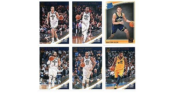 2018-19 Donruss Basketball Utah Jazz Team Set of 6 Cards  (Rookies  included) Ricky Rubio( 53) b4fbd5b93