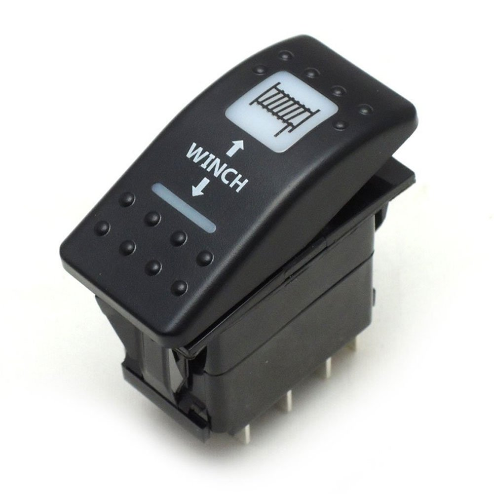 Winch In Out Rocker Switch On Off 20 Amp 12v Led Three Way For Light Blue Can Am Maverick Commander 1000 800 Automotive