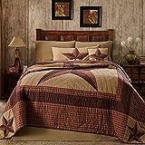 Landon Queen Quilt Bundle - 5 Piece Set. Set Contents: 1 Queen Quilt (90 x 90), 2 Queen Shams (21 x 27), 1 Queen Bed Skirt (80 x 60), 1 Pillow (16 x 16)