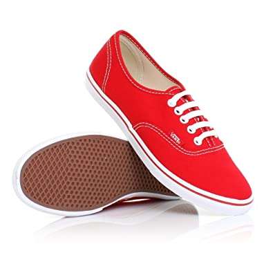 ccec213e8533ae Womens Vans Authentic Lo Pro True Red White Shoes SIZE 5  Amazon.co.uk   Shoes   Bags