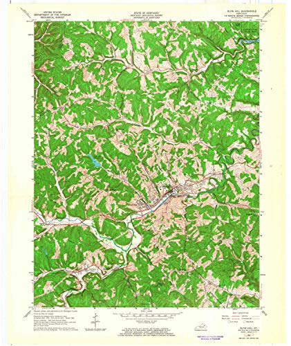 YellowMaps Olive Hill KY topo map, 1:24000 Scale, 7.5 X 7.5 Minute, Historical, 1962, Updated 1964, 27.5 x 23.1 in - Paper
