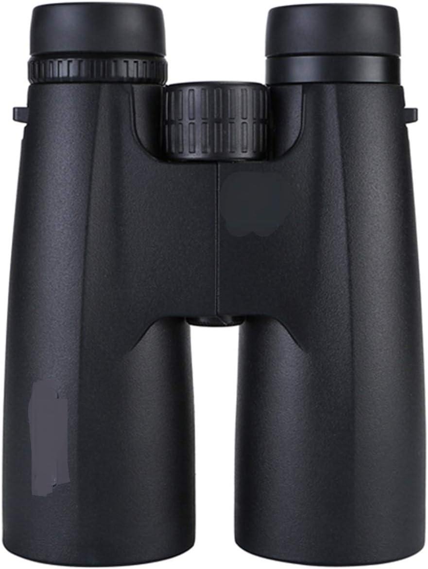 WULE-RYP Profesional 12x50 HD Binoculares HD Potente Telescopio Ámbito táctico Binocular de visión Nocturna de Baja luz para observación de Aves Caza (Color : Black)