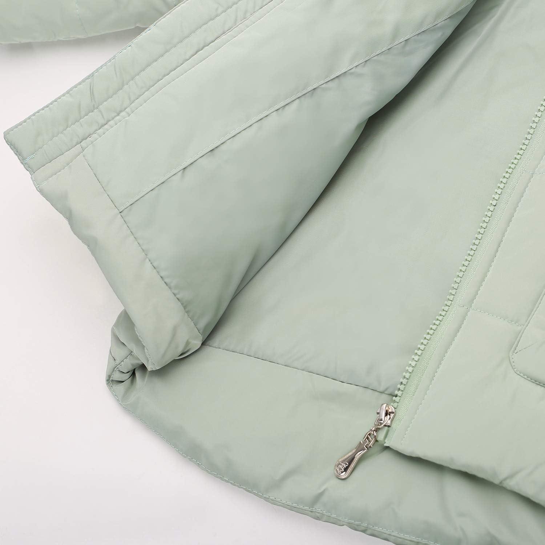 Zoerea Tuta da Sci per Bambino Tute da Neve Invernale Piumino Giacca con Cappuccio e Pantaloni Set di Abbigliamento per Bambina 2 Pezzi
