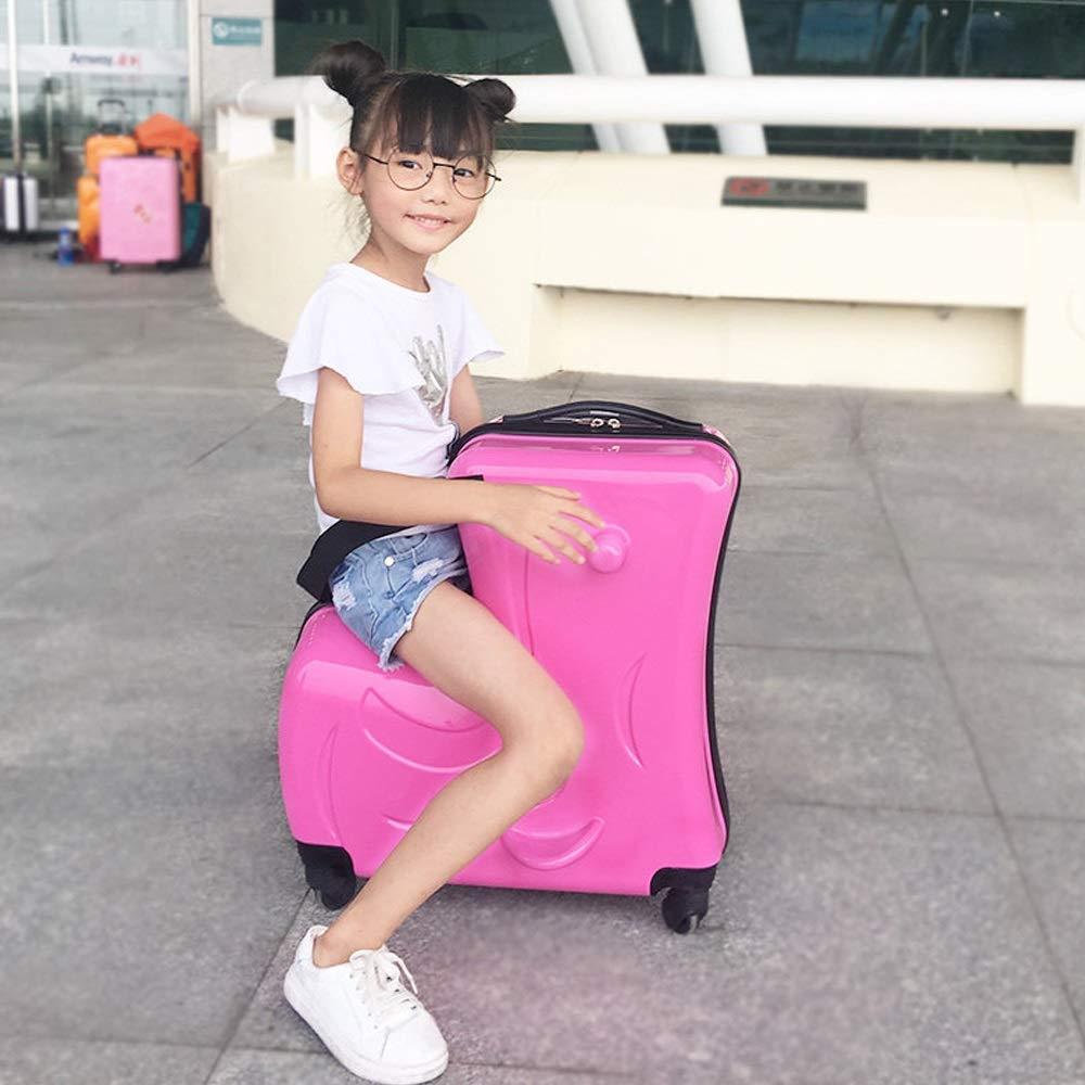 XF 子供のスーツケースはトロリーケースに乗るために使用することができます赤ちゃんと一緒に赤ちゃんは女性に乗ってスーツケースの上に座って子供を乗ることができます、59センチ×25センチ×58センチ トラベルバッグスーツケース (Color : E) B07T4K64ZG E