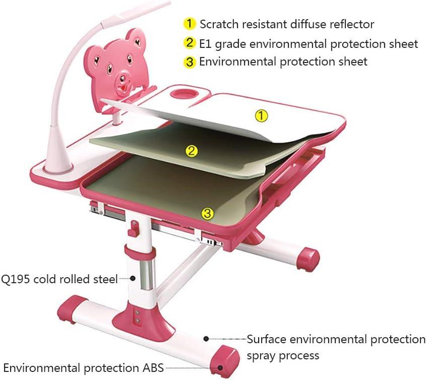 Desktop can Doodle Adjustable Table Top Tilting Surface Drawer Storage Blue KLDJHNS Blue Height Adjustable Childrens Desk and Chair Set with LED Light