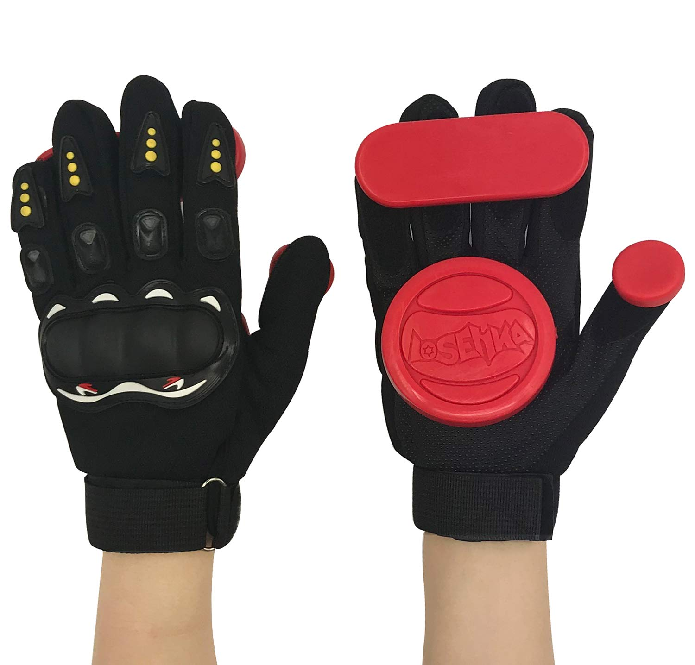 IMPORX Longboard Slide Gloves Downhill Standard Skate Gloves with 2 Slider Puck Set(Red) by IMPORX