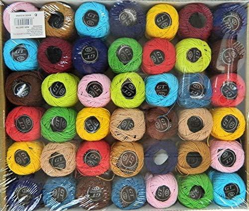 GT 42 ovillos Hilos algodón 100% algodón Bordado Hilo Canevas 5 grs: Amazon.es: Hogar
