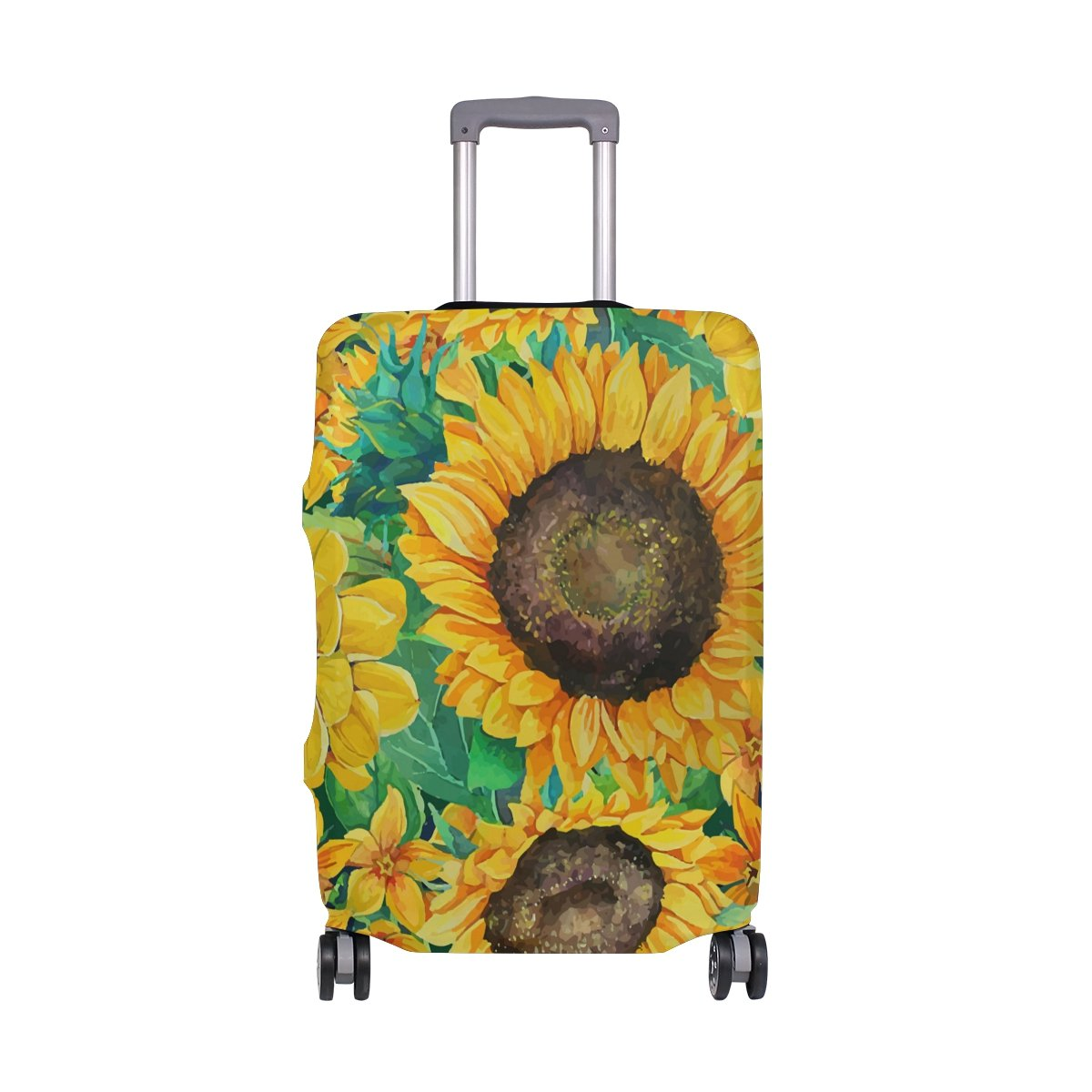 Vintage Sunflowers Floral Oil Painting Summer Suitcase Luggage Cover Protector for Travel Kids Men Women