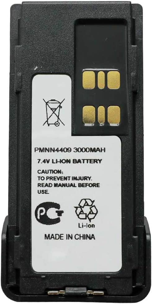 PMNN4409 Walkie Talkie Battery Replacement for Motorola DGP5050 DGP5550 DGP8050 DGP8550 APX4000 AXP2000 XPR7380e XPR7550e XPR7580e Portable Radio