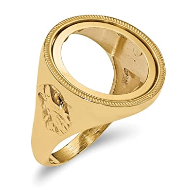 Amazon com: 14K Yellow Gold 0 01AE Polished Coin Ring: Jewelry