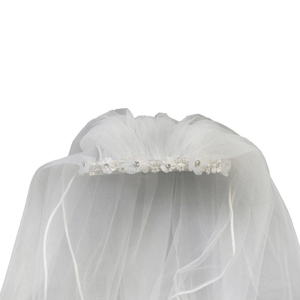 Lito Girls White Organza Satin Flowers Headband 24