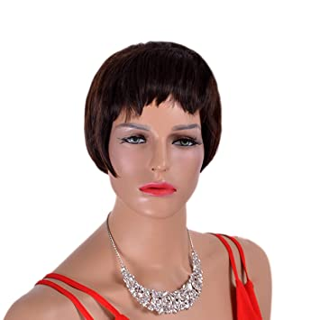 New Pelucas Fashion Short Curly Hair Synthetic Wigs for Women