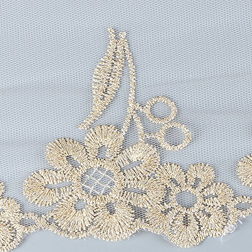 Crochet Ribbon Floral Applique - 20 Yard Embroidered Fabric Applique Wedding Bridal Dress Embellishment Floral Crochet Lace Trimming Ribbon DIY Sewing 12cm