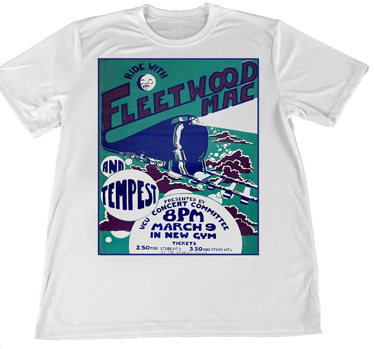 Brotherhood Ride With Fleetwood Mac Concert Poster Wicking T Shirt by Brotherhood