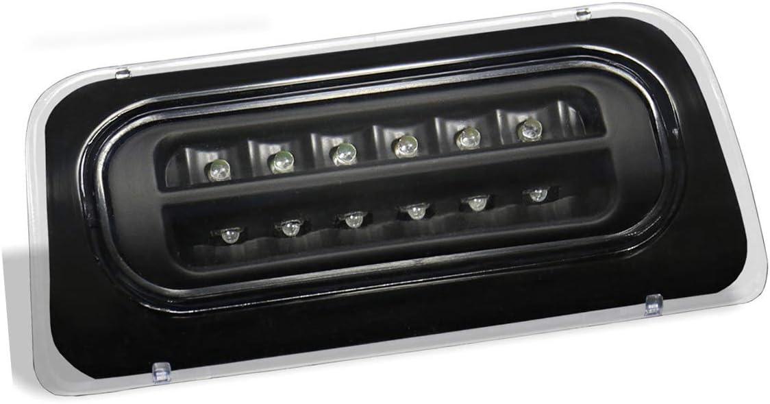 1996-2000 Isuzu Hombre //1994-2003 GMC Sonoma LED Third Brake Light Black Housing Clear Lens Fit 1994-2003 Chevy S10 Standard Cab Only