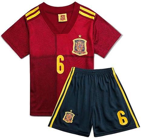 PAOFU-Camiseta y Pantalón Corto del Equipo de Fútbol de España ...